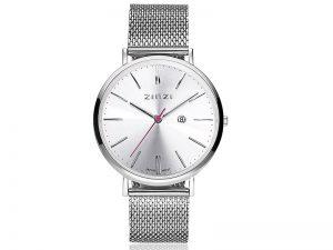 ZIW402M-Zinzi horloge Retro stalen horlogeband zilveren wijzerplaat 99-euro