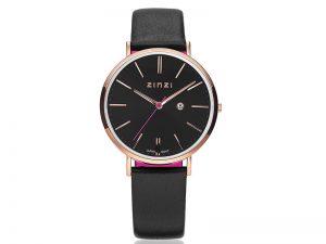 ZIW404-Zinzi-horloge-rose-zwarte-band-99-euro