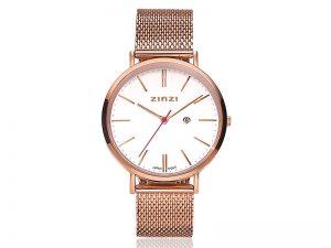 ZIW408M Zinzi retro horloge rose met witte wijzerplaat 109 euro