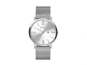 ZIW502M Zinzi Roman horloge staal met zilveren wijzerplaat