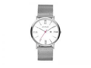 ZIW506M Zinzi retro horloge, stalen band, witte wijzerplaat