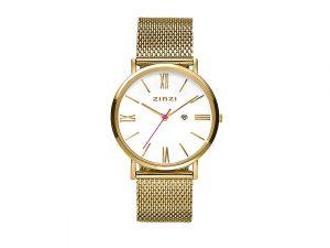 ZIW507M Zinzi roman horloge goud met witte wijzerplaat