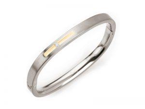 Boccia titanium armband met diamant 0304-01