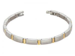 Boccia titanium armband met goude vergulding 0371-02