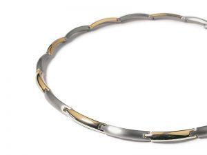 Boccia titanium collier met gouden vergulding 0817-03