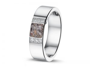 Moderne ring voor as met zirkonia