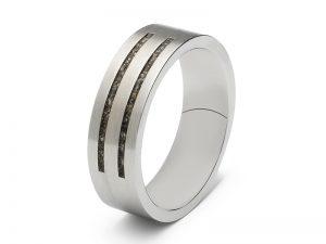 Moderne, strakke ring voor as