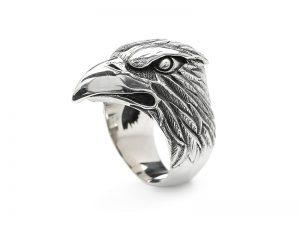 S14 Silk ring zilver adelaar