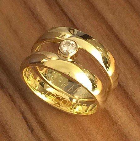 Van twee trouwringen een nieuwe ring gemaakt