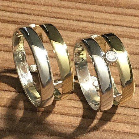Van vriendschapsring en trouwring een nieuwe ring gemaakt