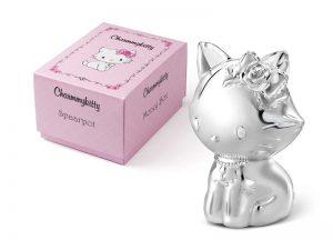 Verzilverde Spaarpot Charmmy kitten gratis graveren 6849261_2
