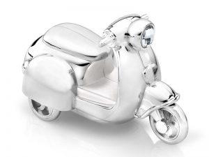 Verzilverde spaarpot scooter gratis graveren 7282261