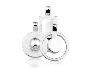 moderne zilveren hanger voor as