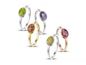 ring voor as met gekleurde hars R-001SET