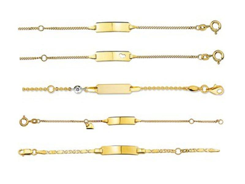 Gouden baby plaat armbandje