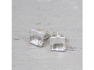 Jéh Jewels oorknopjes met hamerslag zilver 14566