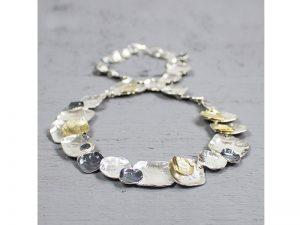 Zilveren en verguld collier met verspringende deeltjes Jéh Jewels 19522