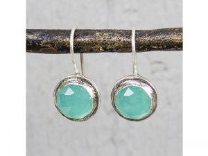 Zilveren oorbellen groene kwarts Jéh Jewels 16972