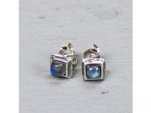 Zilveren oorbellen met labradorie Jéh Jewels 18468