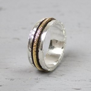 Zilveren ring met gold filled Jéh Jewels 18483