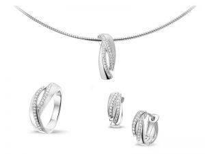 Zilveren sieraden setje