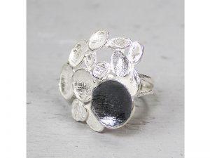 zilveren ring met bloemvorm Jéh Jewels 18008