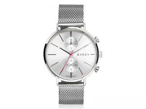 ZIW702M Zinzi Traveller horloge met zilverkleur wijzerplaat