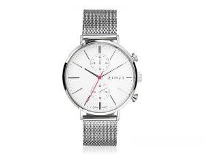 ZIW706M Zinzi traveller horloge witte wijzerplaat