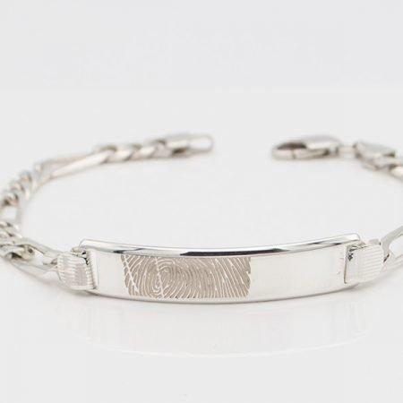 Zilveren armband met vingerafdruk