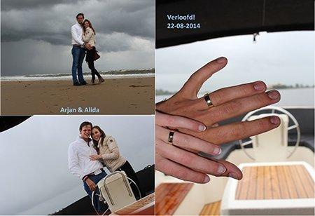 Arjan en Alida kochten trouwringen bij juwelier Sylvester Andriessen