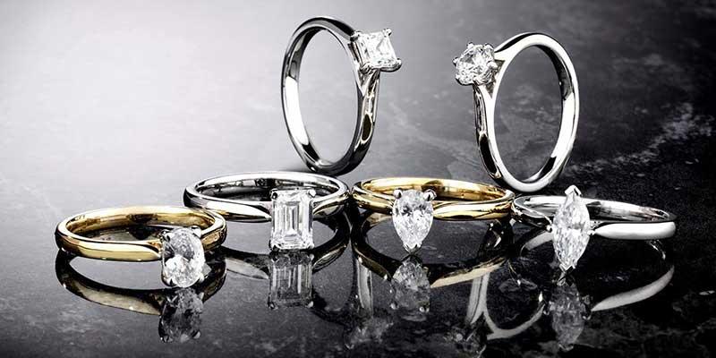Verschillende diamant zettingen