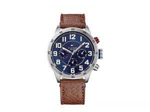 1791066-Tommy-Hilfiger-horloge-Trent-blauwe-wijzerplaat-bruine-band