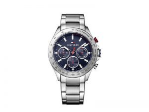 1791228-Tommy-Hilfiger-horloge-hudson staal-met-blauwe-wijzerplaat