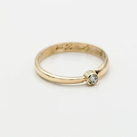 trouwring vermaakt naar een nieuwe ring gravering behouden
