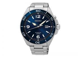 SKA745P1 Seiko-herenhorloge-Kinetic-blauwe-wijzerplaat-stalen-band