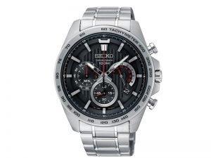 SSB299P1-Seiko-heren-horloge-stalen-band-zwarte-wijzerplaat-100M-WR