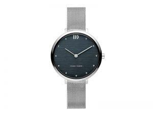 IV69Q1218-Danish-Design-horloge blauwe wijzerplaat
