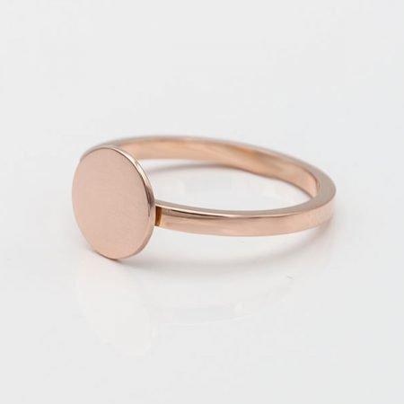 Rose gouden ring met plaatje