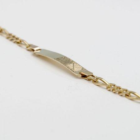 Gouden armband met vingerafdruk