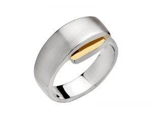 Moderne-ring-zilver-en-zilver-verguld-Yvette-Ries