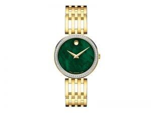 Movado-dameshorloge-0607233-met-briljant-groene-wijzerplaat