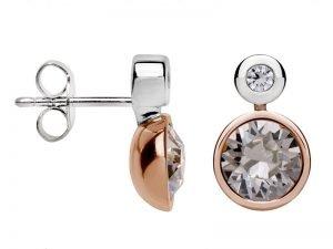 Oorbellen-zilver-rose-verguld-met-swarovski-Yvette-Ries