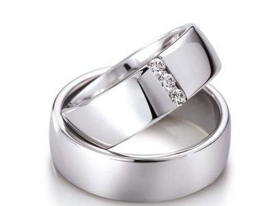 trouwring witgoud met diamant