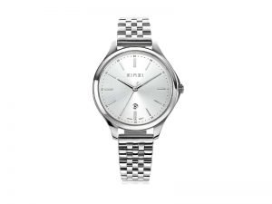 ZIW1002 Zinzi Classy horloge staal grijze wijzerplaat