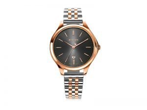 ZIW1027 Zinzi Classy horloge staal en rosé kleur grijze wijzerplaat