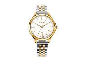 ZIW1034 Zinzi Classy horloge staal goudkleur parelmoer wijzerplaat