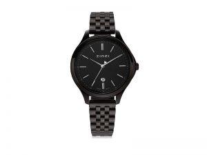 ZIW1037 Zinzi Classy horloge zwarte band zwarte wijzerplaat
