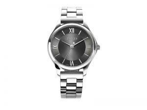 ZIW1224 Zinzi Classy mini horloge staal grijze wijzerplaat