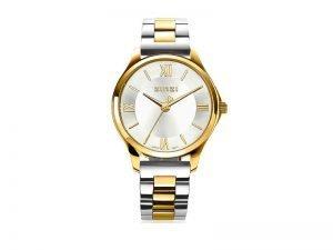 ZIW1233 Zinzi Classy mini horloge staal goudkleur zilverkleurige wijzerplaat