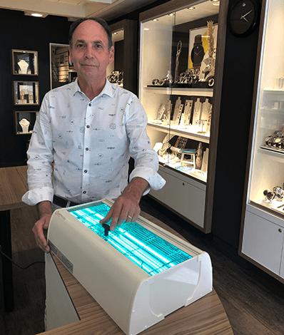 juwelier Heusden Sylvester Andriessen desinfectie UV-C licht